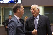 Josep Borrell a Heiko Maas v Bruseli.