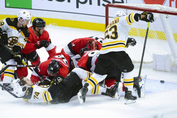 Zápas Bostonu Bruins a Ottawy Senators