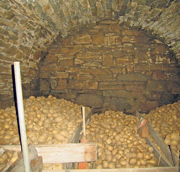 Klasická zemiaková pivnica je vhodná aj na uskladnenie  semeníc zeleniny.