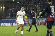 Memphis Depay v zápase Ligy majstrov 2019/2020 Olympique Lyon - RB Lipsko.