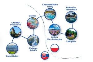 Tieto obce na poľskej a slovenskej strane sa podarilo Poliakom prepojiť autobusmi.