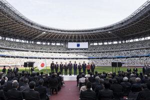 Olympijský štadión v Tokiu.