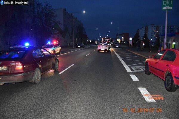 Nehoda v Senici sa stala včera skoro ráno.