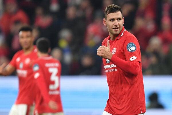 Futbalista 1. FSV Mainz 05  Ádam Szalai.