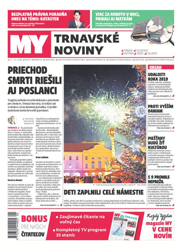 Prvé číslo týždenníka MY Trnavské noviny.