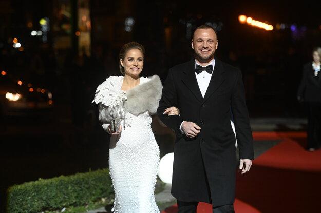 Marián Gáborík s manželkou Ivanou
