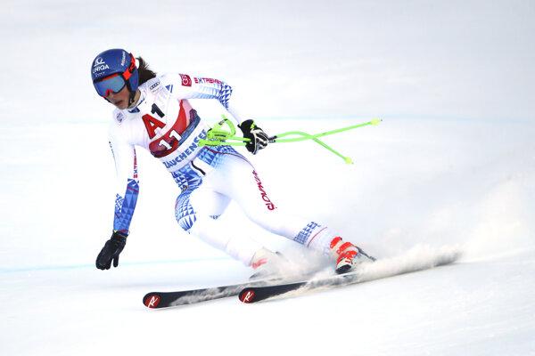 Petra Vlhová počas paralelného slalomu v St. Moritzi.
