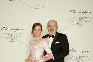 Matej Landl, herec s manželkou Janou