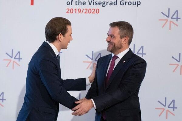 Premiér Peter Pellegrini a predseda vlády Rakúska Sebastian Kurz.