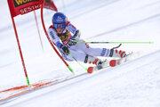 Petra Vlhová v paralelnom obrovskom slalome v Sestriere 2020.