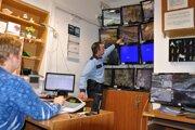 mestská polícia využíva kamerový systém.