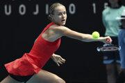 Anna Karolína Schmiedlová v 1. kole Australian Open 2020.