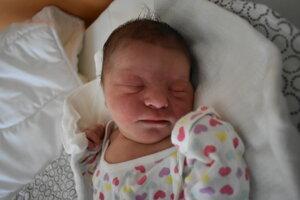 Margarett Mihaliková (3390 g, 51 cm) sa narodila 14. januára Márii a Filipovi z Nemšovej.