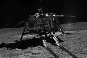 Sonda Čchang-e 4 v kráter Von Kármán.