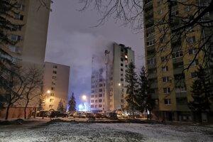 Mukačevská ulica v deň výbuchu.