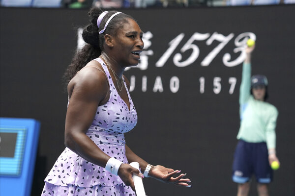 Serena Williamsová v 3. kole Australian Open 2020.