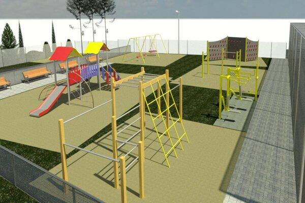 Vizualizácia nového detského ihriska v Dubnici.