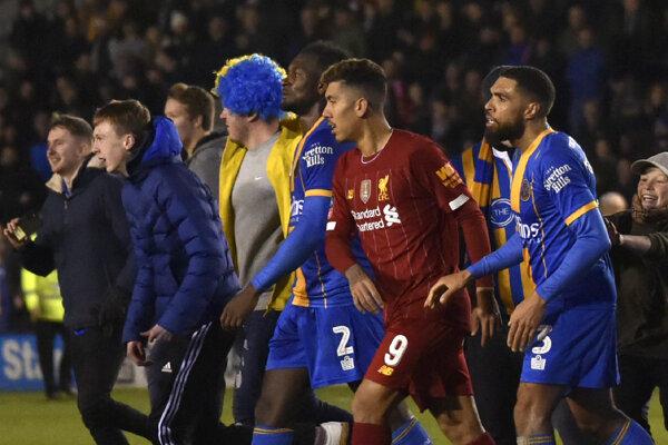 Zápas Strewsbury - Liverpool.