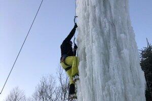 ľadová stena v Oravskej Polhore.