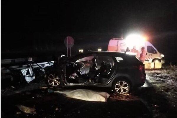 Fotka z tragickej dopravnej nehody.