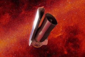 Umelecká ilustrácia Spitzerovho vesmírneho ďalekohľadu.