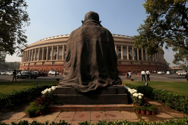Indický parlament.