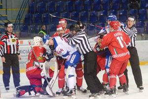 Momentka zo zápasu Slovensko - Bielorusko na turnaji Kaufland Cup 2020.