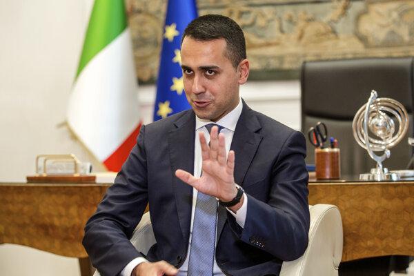 Taliansky minister zahraničných vecí Luigi Di Maio.