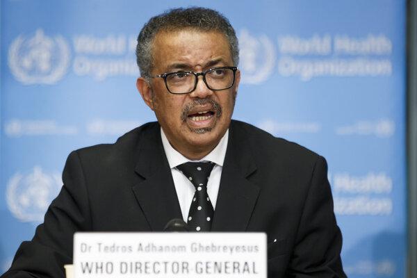 Generálny riaditeľ WHO Tedros Adhanom Ghebreyesus.
