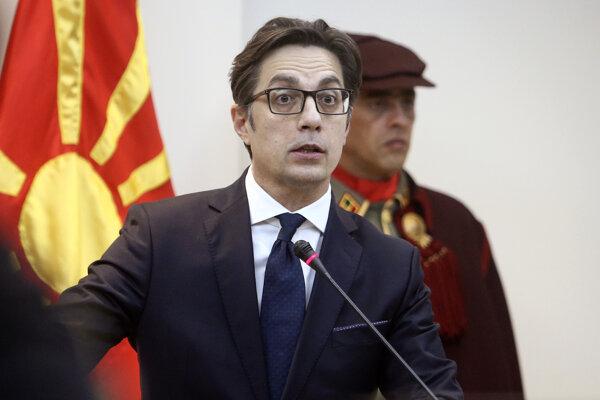 Prezident Severného Macedónska Stevo Pendarovski.
