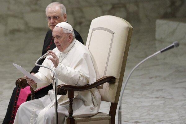 Pápež František.