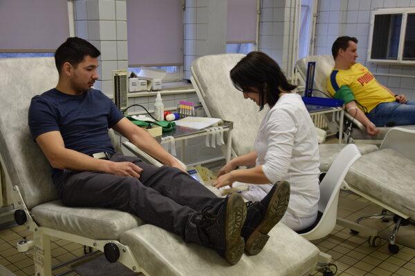 Odber prebiehal na Hematologicko-transfúznom oddelení Nemocnice s poliklinikou v Trebišove.