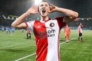 Róbert Boženík si na svoje konto pripísal prvý gól v drese Feyenoordu Rotterdam.