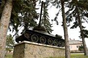 Tank T-34 v strede Stankoviec.