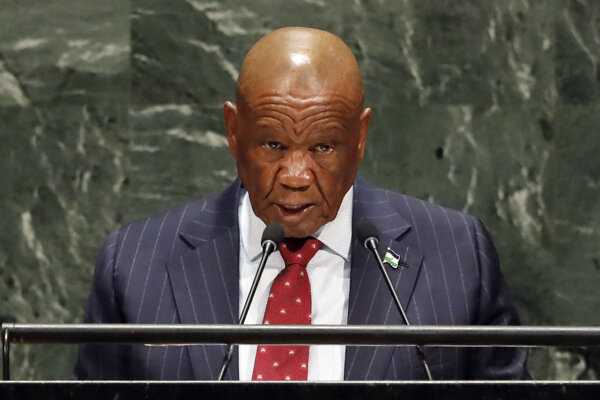 Lesothský premiér Thomas Thabane.