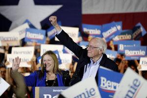 Po sčítaní približne 10 percent hlasov mal Sanders pohodlné vedenie.