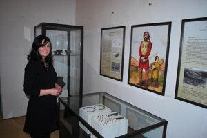Kurátorkou výstavy je archeologička Patrícia Maňáková.
