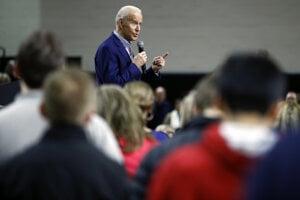Demokratický kandidát na prezidenta Joe Biden.