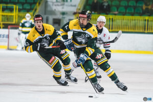 Žilinskí hokejisti považským derby ukončili nadstavbovú časť sezóny.