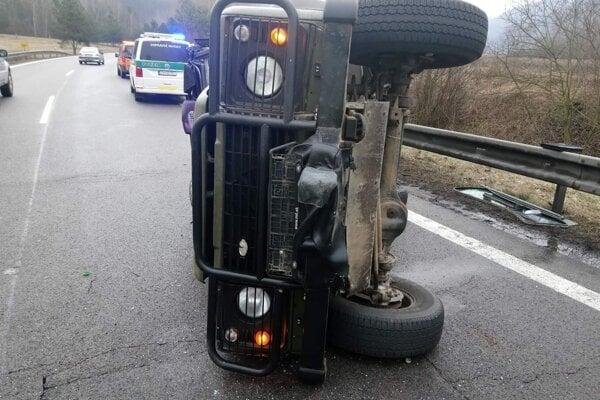 Nehoda na R1 pri Zvolene.