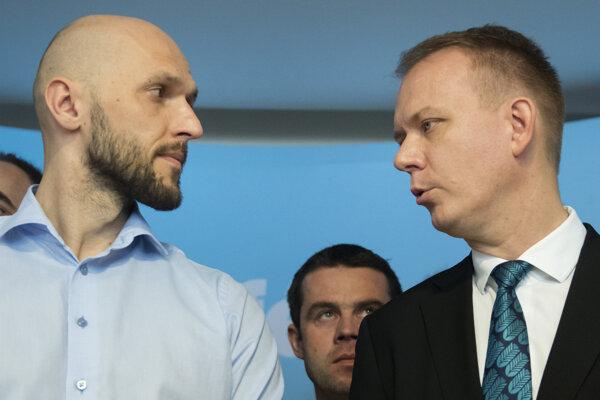 Voľby 2020: Michal Truban  a Miroslav Beblavý.
