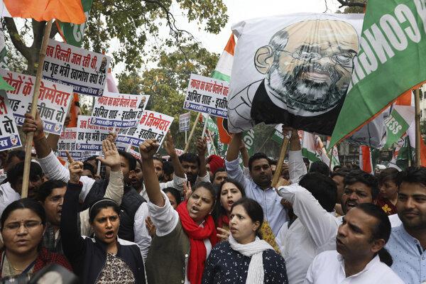 Protest v Naí Dillí.