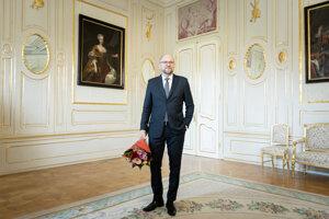 Voľby 2020: Richard Sulík počas prijatia prezidentkou SR v Prezidentskom paláci.