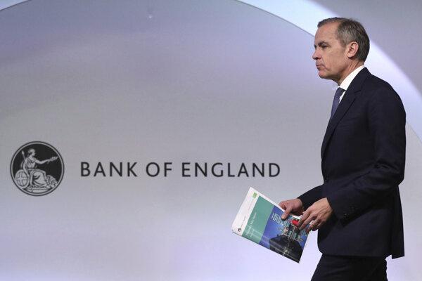 Guvernér Bank of England Mark Carney.