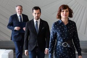 Voľby 2020: Veronika Remišová, Juraj Šeliga a Andrej Kiska.