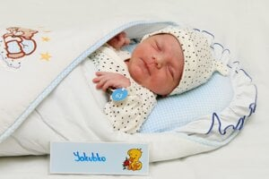 Jakub Šúň z Valaskej Belej sa narodil 24.2. v Bojniciach