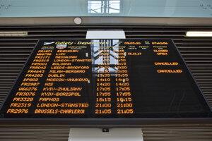 Zrušené lety do Talianska z bratislavského letiska.