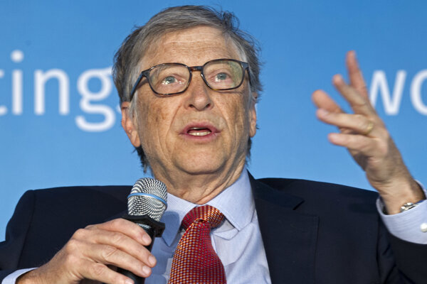 Spoluzakladateľ spoločnosti Microsoft a jeden z najbohatších ľudí na svete Bill Gates