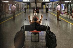 Stanica metra v hlavnom meste Čile.