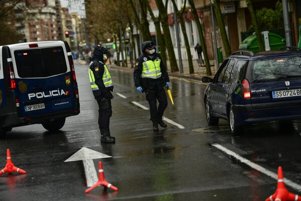 Polícia v španielskom meste Logrono.